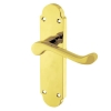 Aglio Victorian Summer Door Handle - Long Latch Set - Polished Brass
