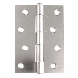Steel Butt Hinges / Door Hinges Polished Chrome Plate 100mm