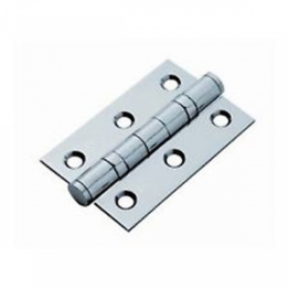Twin Ball Bearing Hinge - 75 X 76 X 3mm - Polished Stainless Steel