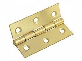 Pair Of 50mm Steel Butt Hinges / Cabinet Door Hinges - Self Colour