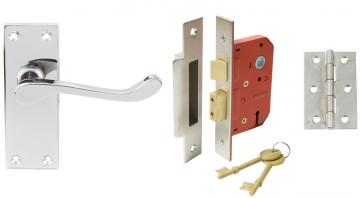 Scroll Handle Door Set, Internal Lock Version