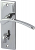Drayton Lever Handles With Backplates For Bathroom Lock, Zinc Alloy