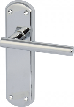 Varthen Lever Handles With Backplates For Latch, Zinc Alloy