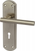 Varthen Lever Handles With Backplates For Lever Lock, Zinc Alloy