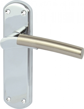 Arkles Lever Handles With Backplates For Latch, Zinc Alloy