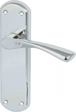 Olton Lever Handles With Backplates For Latch, Zinc Alloy
