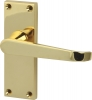 Plain Victorian Lever Handles With Backplates For Latch, Zinc Alloy