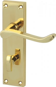 Scroll Lever Handles With Backplates For Bathroom Lock, Zinc Alloy