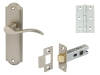 Sywell Door Set Packs, Zinc Alloy, Levers On Backplate Set, Latch Version