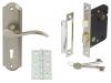 Sywell Door Set Packs, Zinc Alloy, Levers On Backplate Set, Internal Lock Version