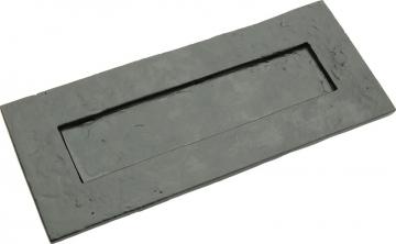 Tudor Letter Plate, Malleable Iron, 260 X 109 Mm