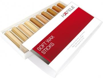 Hafele Soft Wax Sticks, 10x 80mm Sticks, Maple, Alder, Larch