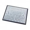 Clark-drain Manhole Cover And Frame Galvanised Steel Sealed And Locking 450mm X 600mm 5 Tonne