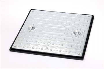 Clark-drain Manhole Cover And Frame Galvanised Steel Double Sealed And Locking 600mm X 600mm 5 Tonne - Pc7bg3
