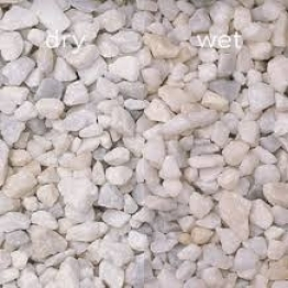 Decorative White Sparkling Chippings Natural Stones 25kg Bag