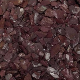 Sunset Red Slate Chippings 25kg Bag
