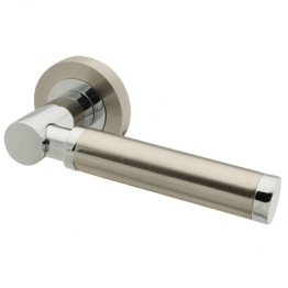 Touchpoint Juliet Door Handle - Satin Nickel/polished Chrome