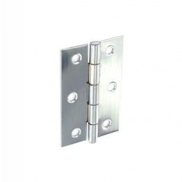 Steel Butt Hinges Polished Chrome Plate 75mm