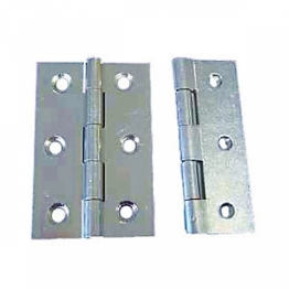 Steel Butt Hinges / Door Hinges Zinc Plated 75mm