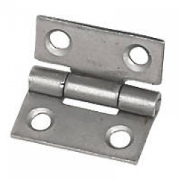 Pair Of Steel Butt Hinges / Cupboard Hinges Self Colour 25mm