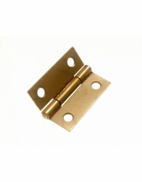 Pair Of Eclipse Brass Butt Hinges / Cupboard Hinges Self Colour 25mm