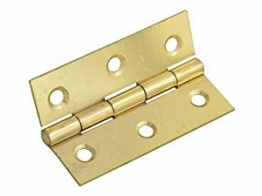 Pair Of 50mm Steel Butt Hinges / Cabinet Door Hinges - Self Colour