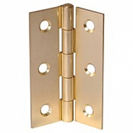 Brass Butt Hinges / Door Hinges Self Colour 63mm