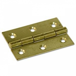 Pair Of 75mm Brass Butt Hinges