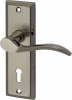 Talladega Lever Handles On Lever Lock Backplate, Zinc Alloy