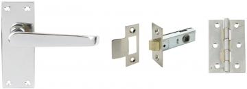 Plain Victorian Lever Handle Door Set, Latch Version