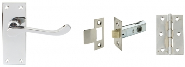 Scroll Handle Door Set, Latch Version