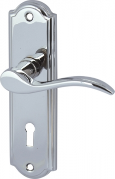 Sywell Lever Handles With Backplates For Lever Lock, Zinc Alloy