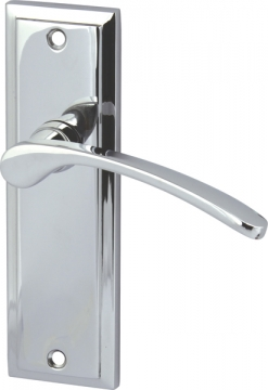 Drayton Lever Handles With Backplates For Latch, Zinc Alloy