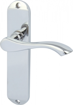 Welford Lever Handles With Backplates For Latch, Zinc Alloy