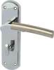 Arkles Lever Handles With Backplates For Bathroom Lock, Zinc Alloy