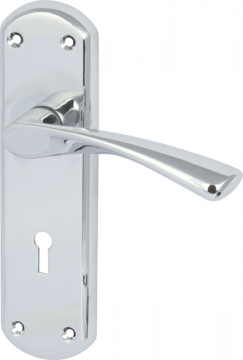 Olton Lever Handles With Backplates For Lever Lock, Zinc Alloy