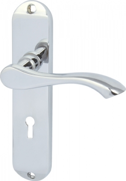 Welford Lever Handles With Backplates For Lever Lock, Zinc Alloy