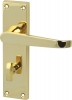 Plain Victorian Lever Handles With Backplates For Bathroom Lock, Zinc Alloy