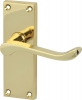 Scroll Lever Handles With Backplates For Latch, Zinc Alloy