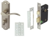 Sywell Door Set Packs, Zinc Alloy, Levers On Backplate Set, Bathroom Version