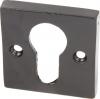 Square Profile Cylinder Escutcheon, Malleable Iron