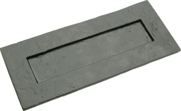 Tudor Letter Plate, Malleable Iron, 260 X 109 Mm