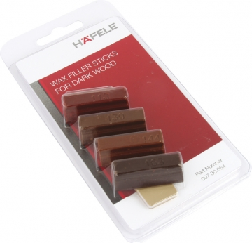 Hafele Soft Wax Sticks, Dark Wood Shades