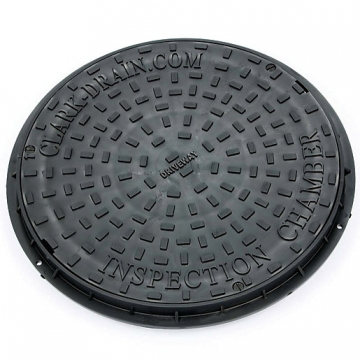 Clark-drain Dual Locking Polypropylene Inspection Chamber Cover And Frame Driveway 450mm Diameter