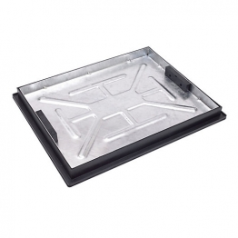 Clark Manhole Cover & Frame 600mm X 450mm X 5t Galv Steel Recessed Tray Clks 790r/46