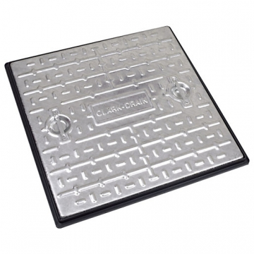Clark Manhole Cover & Frame 600mm X 600mm X 10t Galvanised Steel Pc7cg